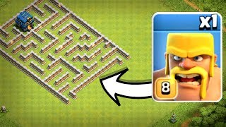 ONE TROOP vs TH12 IMPOSSIBLE MAZE BASE! - Clash Of Clans