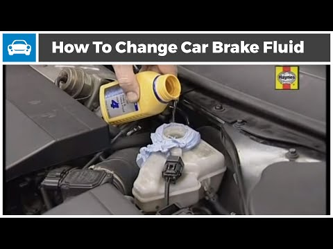 How to change brake fluid in a car