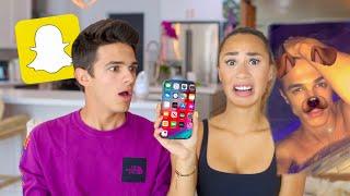 MY CRUSH GOES THROUGH MY PHONE! (bad idea)   MyLifeAsEva & Brent Rivera