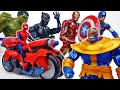 Let39s Defeat Thanos With Spider Cycle ToyMartTV