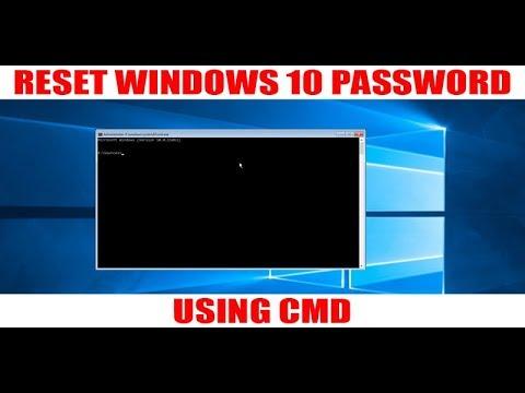 Reset Windows 10 Password using CMD