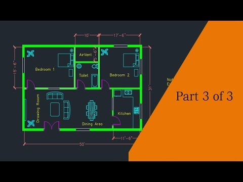 Making a simple floor plan in AutoCAD: Part 3 of 3