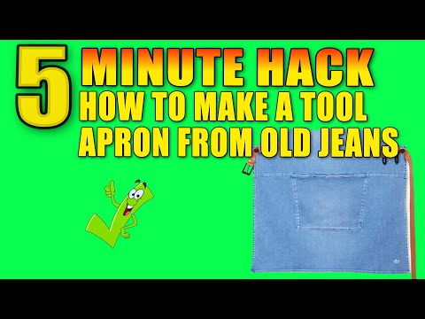 How to make gardening pouch or apron from old jeans