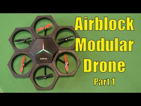 AIRBLOCK Modular Drone and HoverCraft, Full Review, MakeBlock Programmable Drone - Part 1