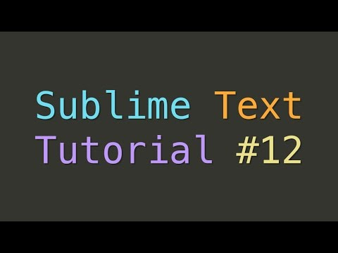 Sublime Text Custom Settings and Split Layout (Tutorial #12)