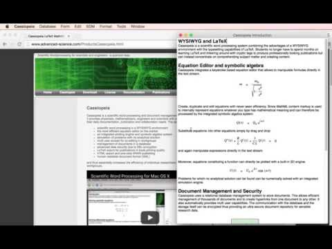 Scientific Word Processing for Mac OS X