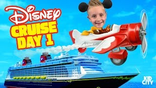 Kids on Disney Cruise Adventure Day 1! Fun Family Vacation & First Plane Ride Ever!