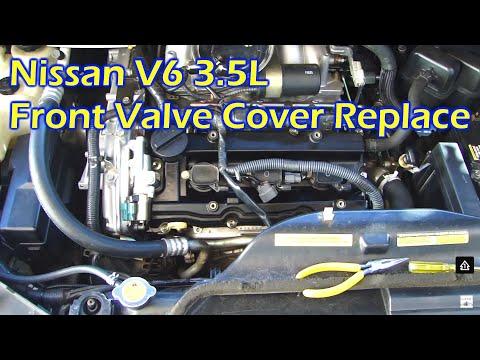 Nissan 3.5L V6 Front Valve Cover Oil Leak & Replace - Quest 04-10