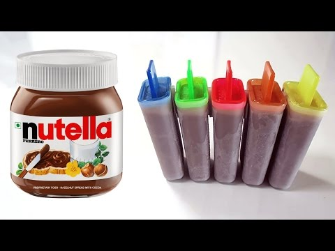 HOW TO MAKE NUTELLA POPSICLE | DIY RECIPE