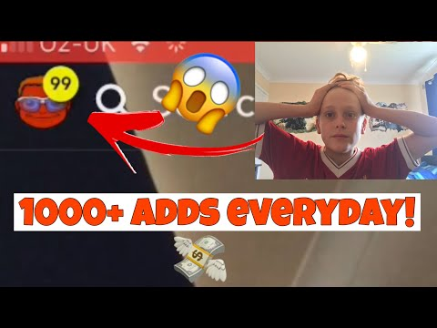 HOW TO GET 1000+ ADDS ON SNAPCHAT EVERYDAY! *INSANE GLITCH*