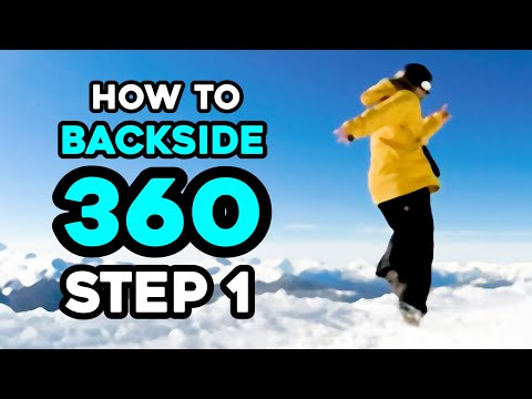 How To Back Side 360 - Step 1 | Snowboard Training at Home