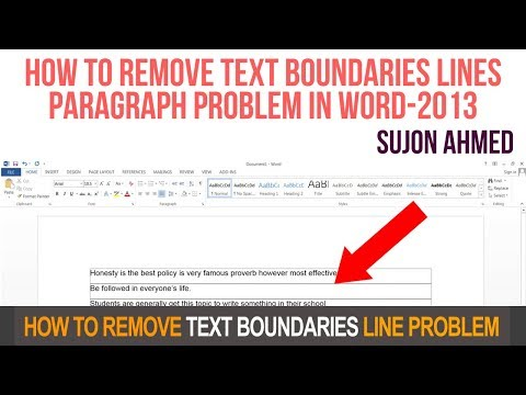 Show and Hide Text Boundaries | How to remove text boundaries lines paragraph problem in word