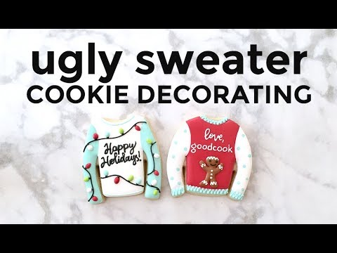 Ugly Sweater Cookie Decorating (with Banana Bakery)