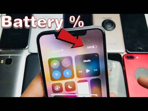 iPhone X/XS: How to Show Battery Percentage