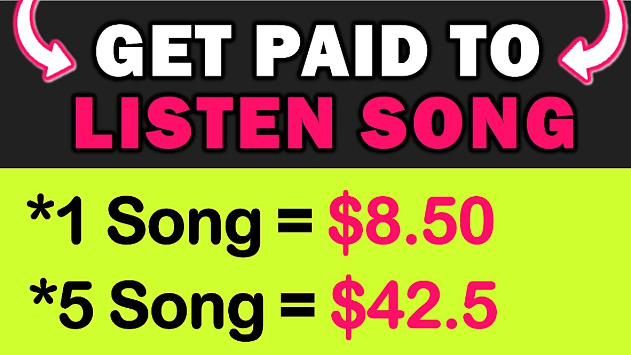 """""""Listen Song"""" Earn $8.50 EVERY Song You Listen (NEW RELEASE) Make Money Listening Songs For FREE!"""
