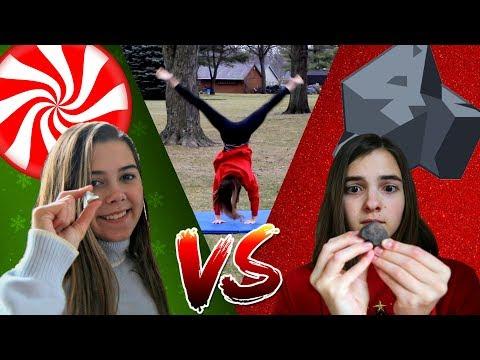 CANDY OR COAL?! Christmas Gymnastics Game