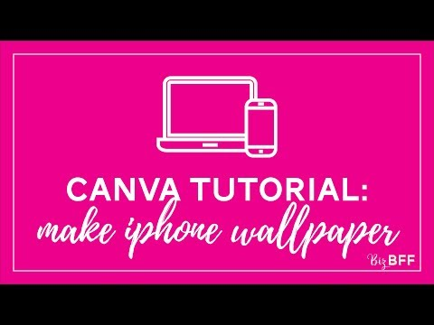 How to make an iphone wallpaper background using Canva