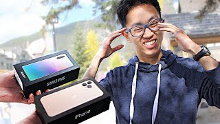 I Gave New Phones to Strangers... But Made Them Choose! – iPhone 11 Pro Max vs Galaxy Note 10 Plus