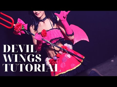 Cosplay Wings Tutorial (Devil set Love Live)