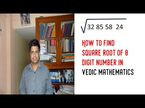 how to find square root of 8 digit number in vedic mathematics ||  vedic math in hindi