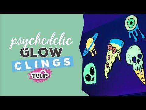 DIY Glow-in-the-Dark Pschedelic Clings