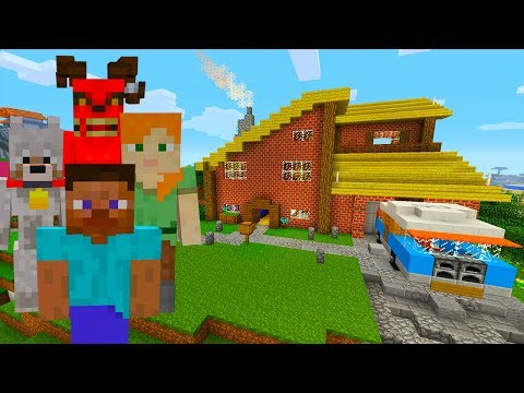 Minecraft Xbox - Hide and Seek - Steve and Alex