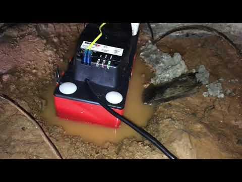 Replaced Bad Condensate Pump for HVAC  in Crawl Space
