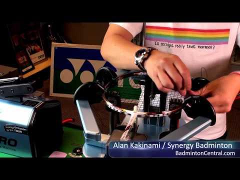 Alan Kakinami strings a badminton racket in 16mins 50secs - Badminton Stringing