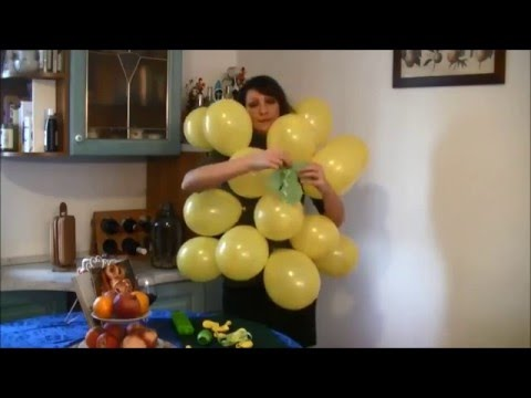 How to make a bunch of grapes costume