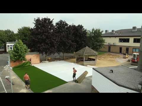 Foam Shock Pad & Artificial Grass Installation
