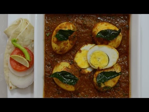 Eggs in Spicy Chettinad Masala - By Vahchef @ vahrehvah.com