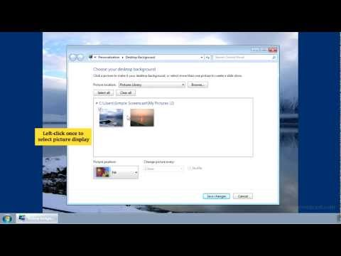 How to change the desktop background (wallpaper) in Windows 7