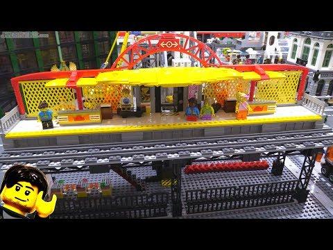 Elevated LEGO train station MOC progress update #5