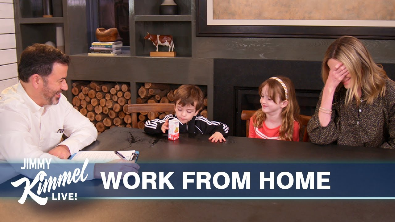 Jimmy Kimmel Teaches His Kids How to Behave in the Workplace