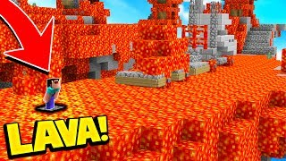 THE FLOOR IS 100% LAVA! (IMPOSSIBLE MINECRAFT CHALLENGE)