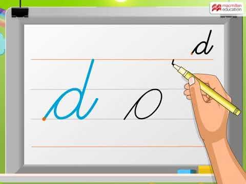 Cursive Writing   Small Letter 'd'   Macmillan Education India