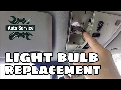 How to change a car interior light bulbs