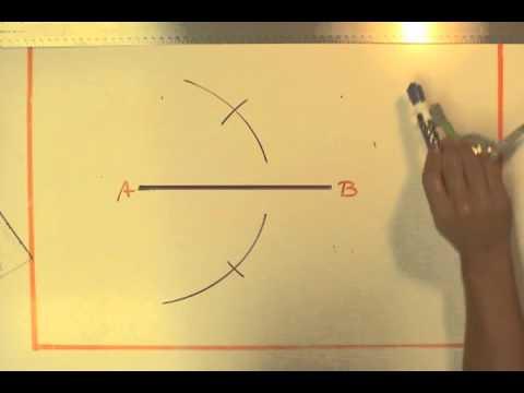 Bisect a Line Segment  - Compass Method
