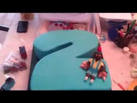 Number 2 Birthday Cake - Train - Character