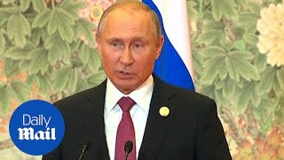 Sign me up after Kim! Putin says he is happy to meet Trump - Daily Mail
