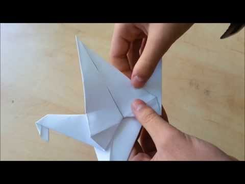 How to make an origami flying bird
