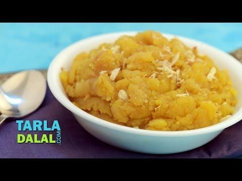 Moong Dal Sheera, Quick Moong Dal Sheera Recipe by Tarla Dalal