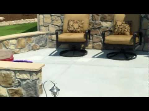 Concrete Patio And Stone Seat Wall Installed By Broomfield Landscape Company