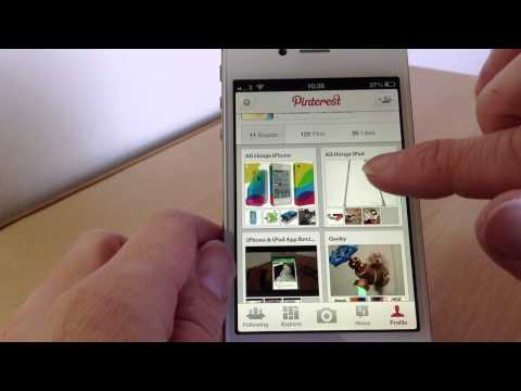 A look at Pinterest for iPhone.