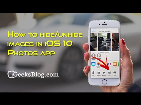 How to hide or unhide images in iOS 10 Photos app on iPhone or ipad