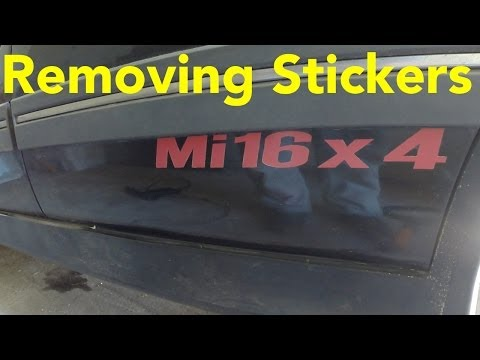 Removing Old Stickers / Decals From a Car