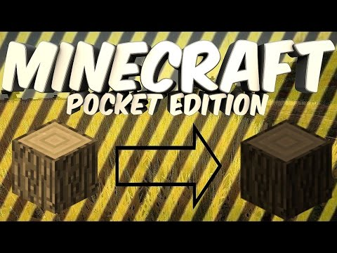 How To Change Wood in Minecraft PE - MCPE 0.10.4 Glitch in (Pocket Edition)
