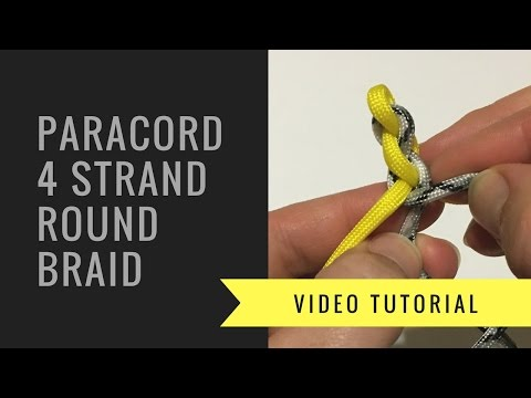 Paracord 4 Strand Round Braid - How to Tutorial