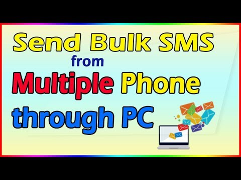 How to Send SMS from multiple phone through PC