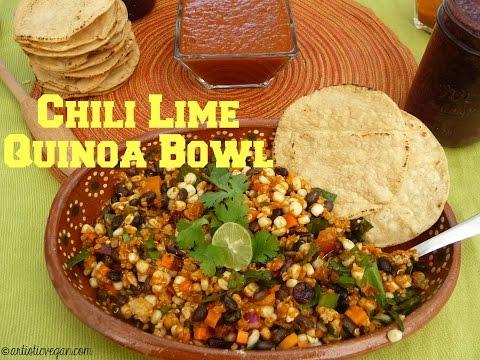 Chili Lime Quinoa Bowl by Artistic Vegan